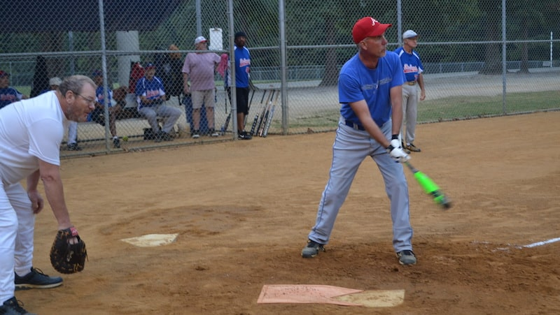 Golden Year Softball in Richmond: photo courtesy of Lacy T. Lusk Sr. Image