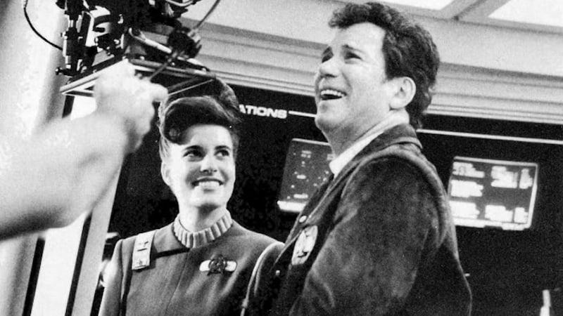 Still of Melanie and Bill Shatner on Star Trek V The Final Frontier - Paramount Pictures Image
