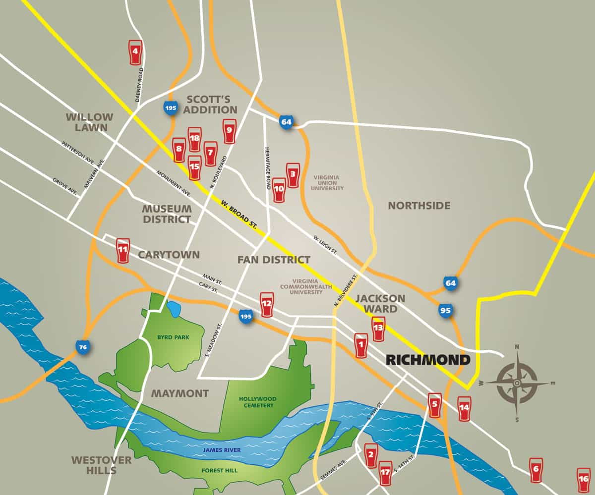 Richmond Brewery Map