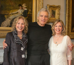 """Dark Shadows"" Kathryn Leigh Scott, David Selby and Lara Parker in 2015 at Lyndhurst location for two DS films. Photo courtesy of Kathryn Leigh Scott."