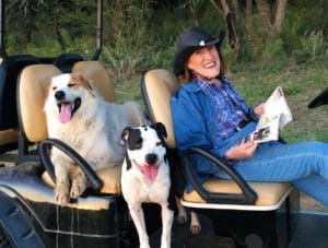 Ruth Buzzi today at her Texas Ranch