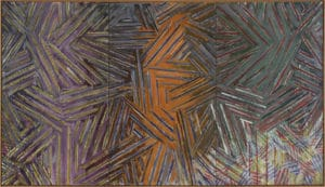 "Jasper Jones' ""Between the Clock and the Bed,"" 1981. Art © Jasper Johns/Licensed by VAGA, New York, NY"