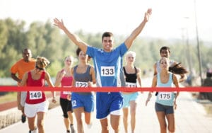 Runners Finishing A Race Image
