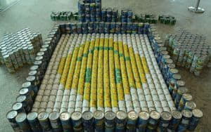 Cans donated to FeedMore Image