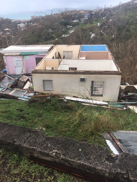 Damage in St. John from Hurricane Irma
