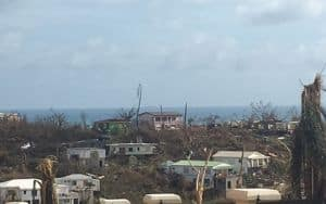 damage on St. John after hurricane Irma Image