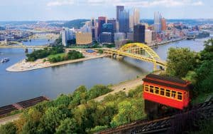 Pittsburgh Skyline Allegheny River Monongahela River Image