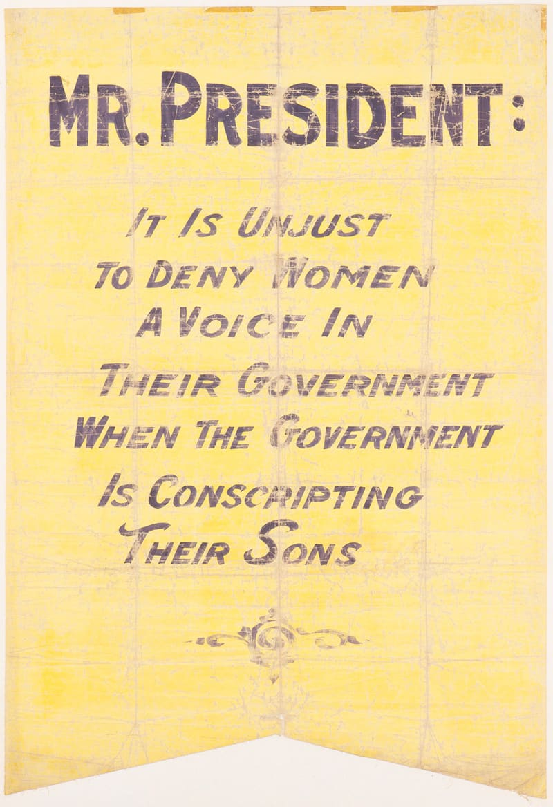 National suffrage banner