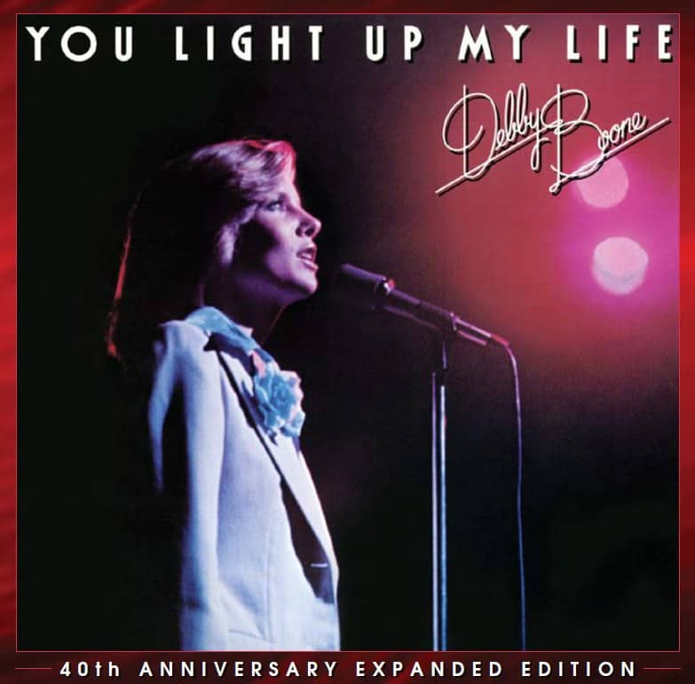2. Cover of Debby Boone's re-released album, for the first time on CD, You Light Up My Life