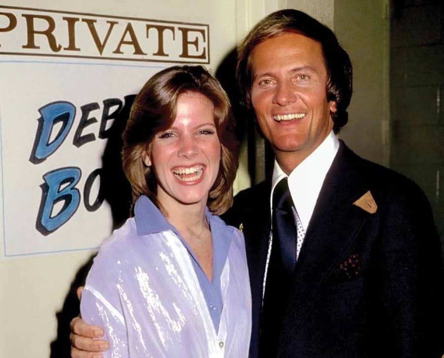 5. Debby Boone and dad, Pat. Early photo.