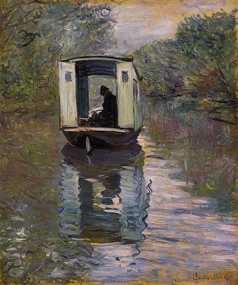 Claude Monet, La bateau atelier