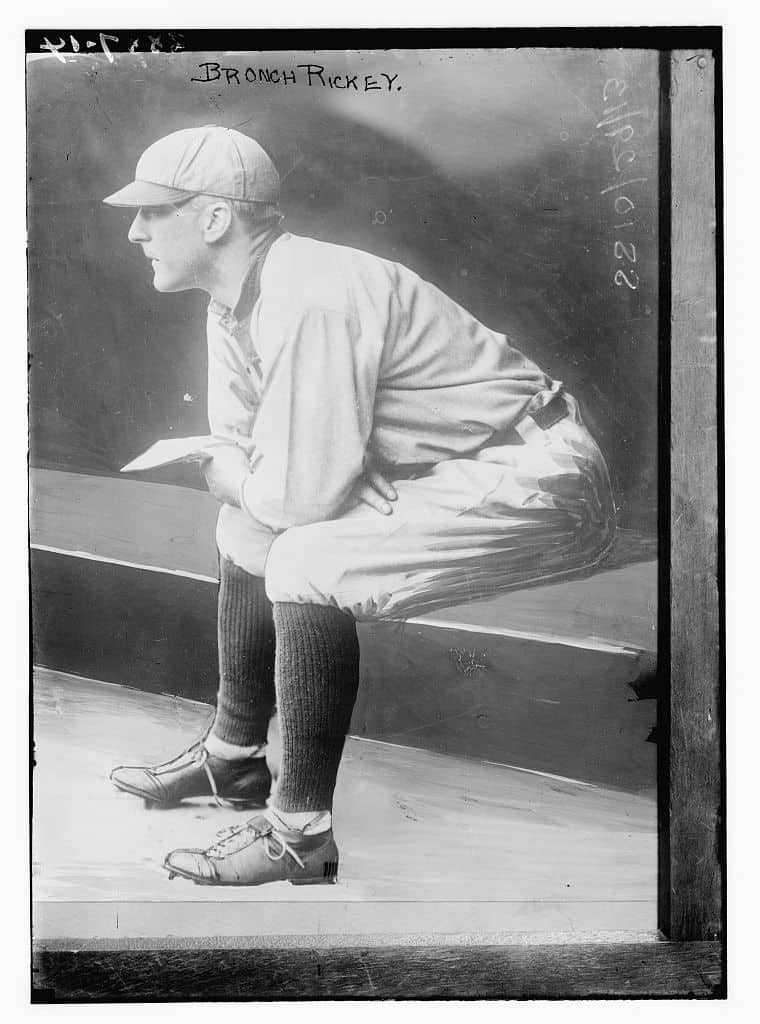 Branch Rickey, St. Louis AL baseball, 1913. Bain News Service, publisher | Photo credit Library of Congress