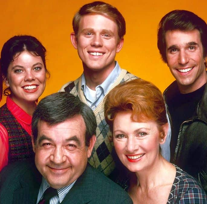 2. Marion Ross and cast of Happy Days - ABC publicity photo