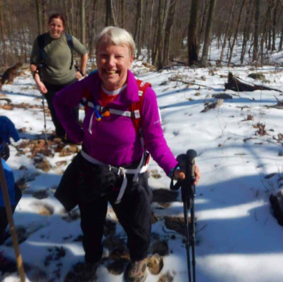 Hiking near Mary's Rock Shenandoah National Park