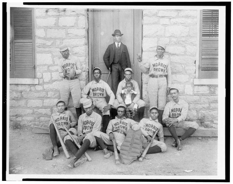 African-American baseball players from Morris Brown College. Photographic print, 1899 or 1900. | Photograph courtesy of the Prints and Photographs Division, Library of Congress