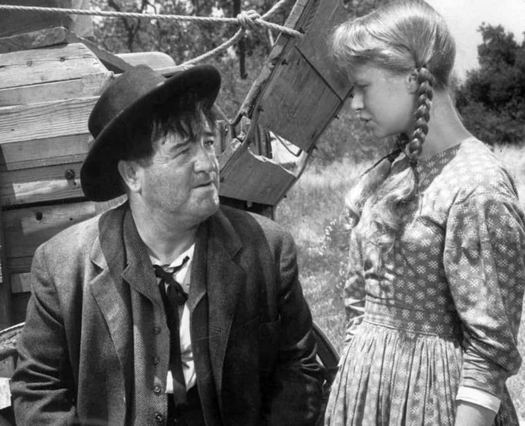2. Lou Costello in a 1958 Wagon Train episode with Beverly Washburn - NBC publicity photo. Provided by Beverly Washburn