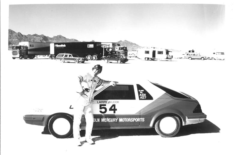 Larry Wilcox at the Bonneville Salt Flats | Photograph by Ian Vaughan