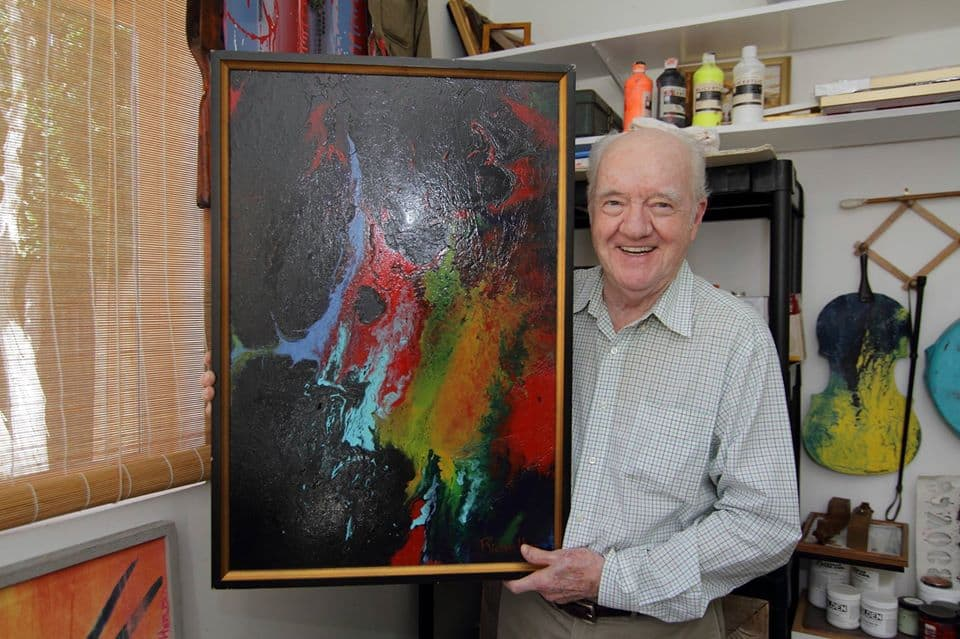 6a. Richard Herd in home studio - provided by Richard Herd