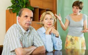 parents with adult daughter having conflict Image