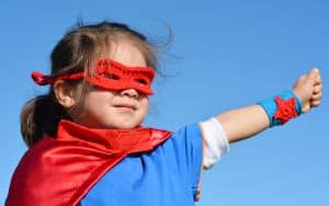 Girl Power Superhero Image