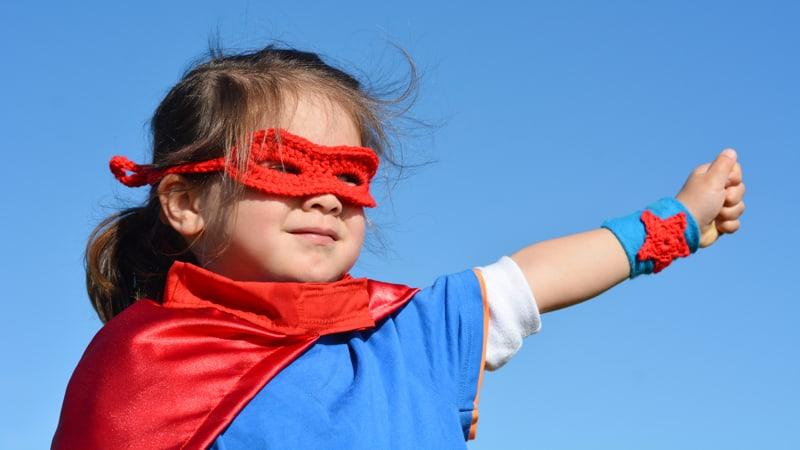 Girl Power Superhero Image