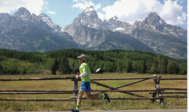 Running in the Tetons | Photograph by Chris DeStefano