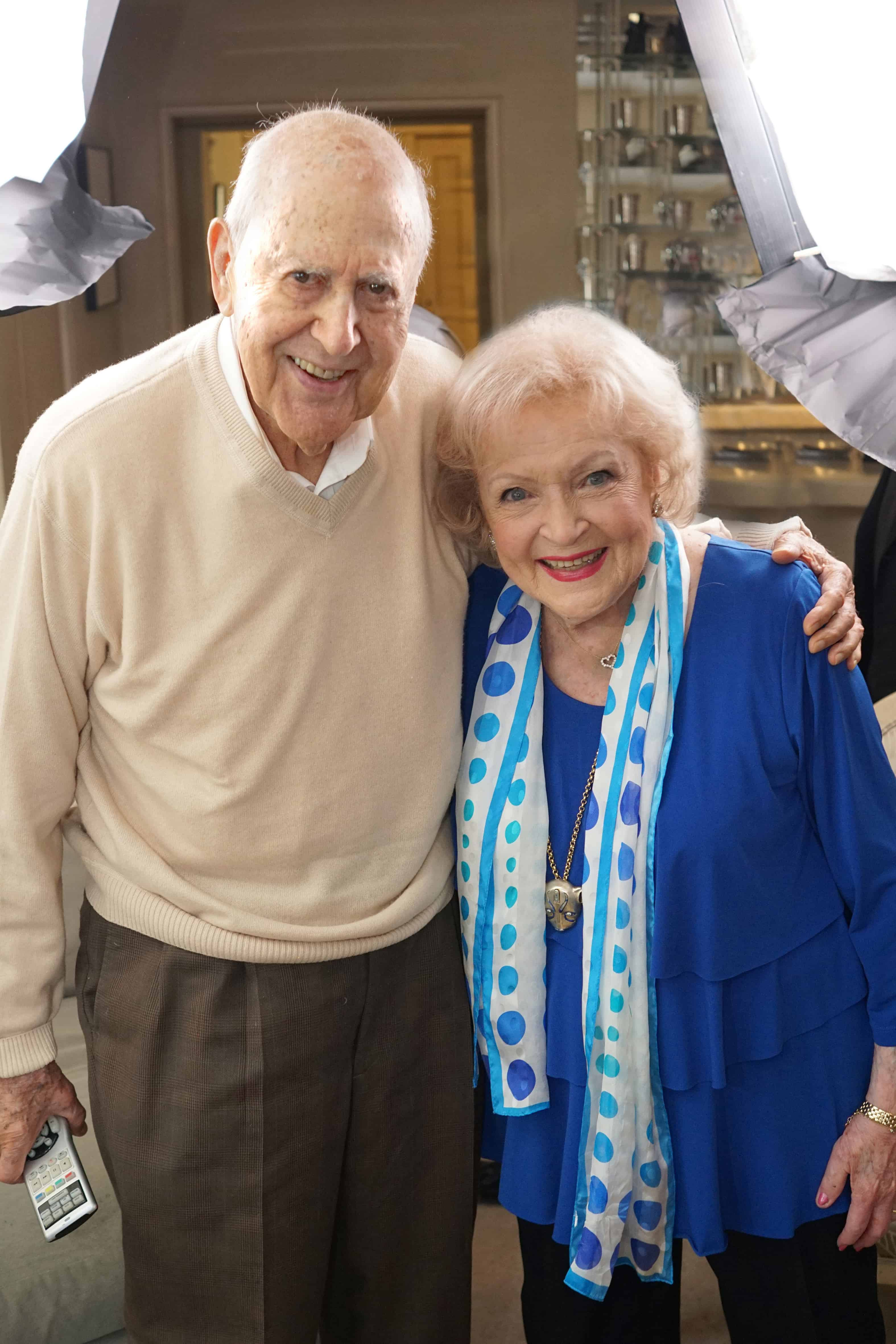 Carl Reiner with Betty White, who appear in If You_re Not in the Obit, Eat Breakfast - Courtesy of HBO