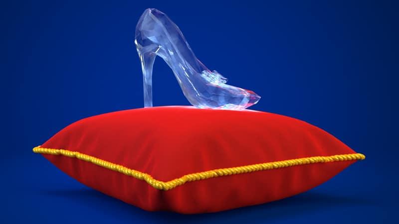 Cinderella crystal slipper Image