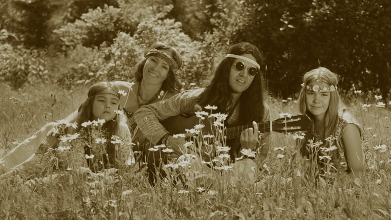 Hippie family outdoors Image