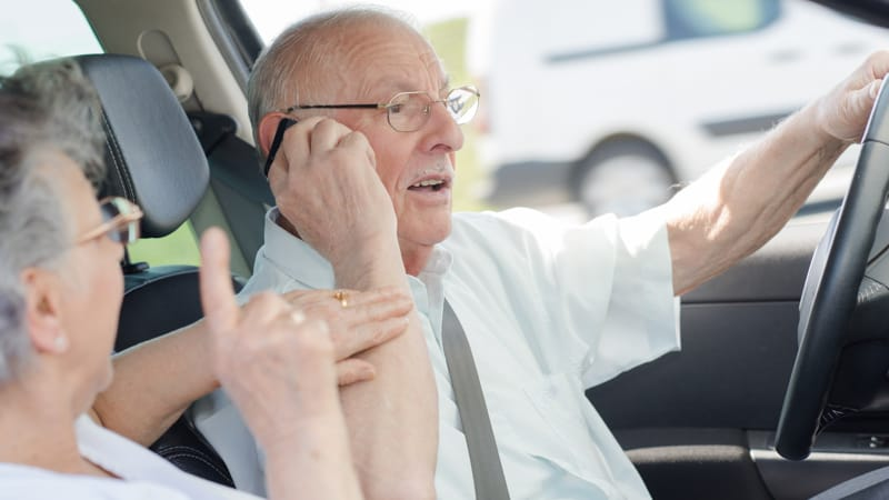 Texting while driving Image