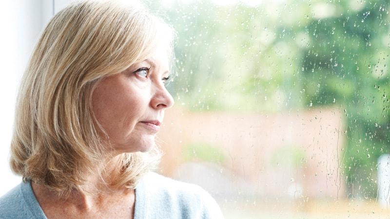 Sad Mature Woman Who Misses Pap Smears Image