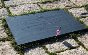 John F Kennedy Gravestone at Washington Memorial, Arlington Cemetery Image