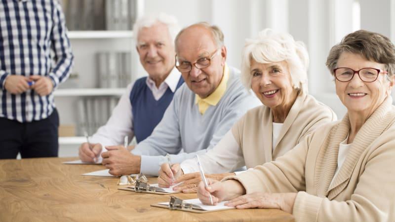 Group of happy seniors Image