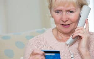 Senior Phone Scam Image