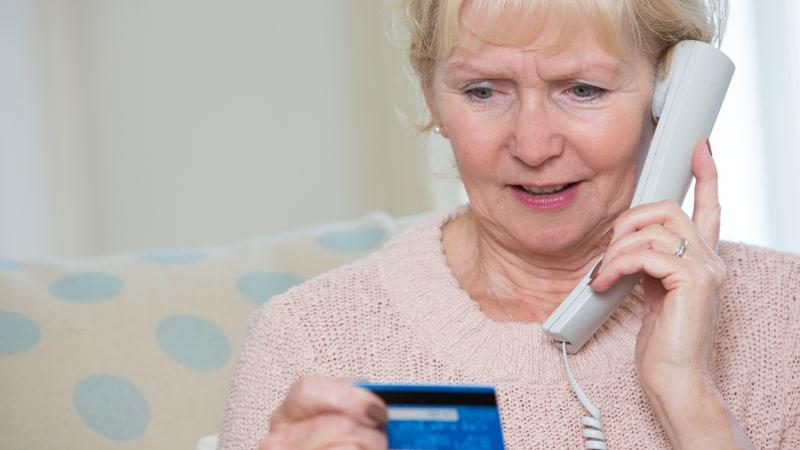 Senior Phone Scam Image