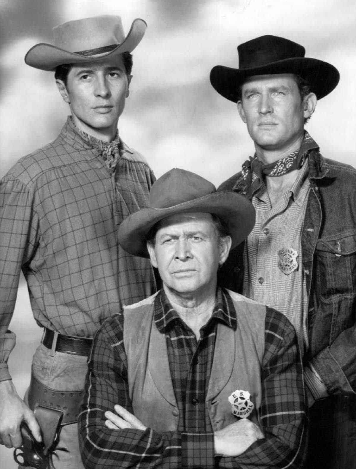 Jock Gaynor, Barton MacLane, and Don Collier in the '60s TV show Outlaws | NBC publicity photo