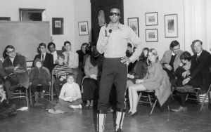 Arthur Ashe conducting a tennis clinic at The Valentine Museum | Photograph courtesy of The Valentine Image