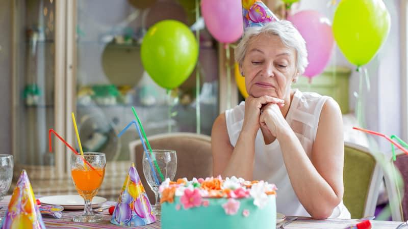 Ask Amy Sad Mom Birthday Image