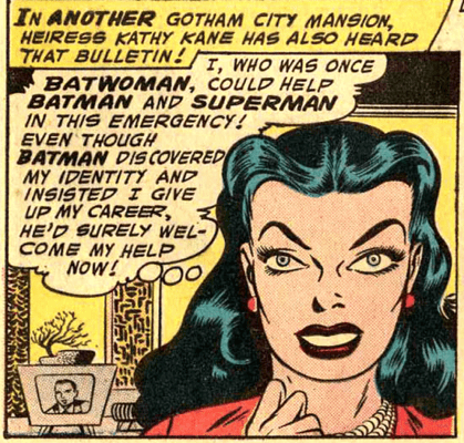 The beautiful Kathy Kane from Worlds Finest#90 (1957)