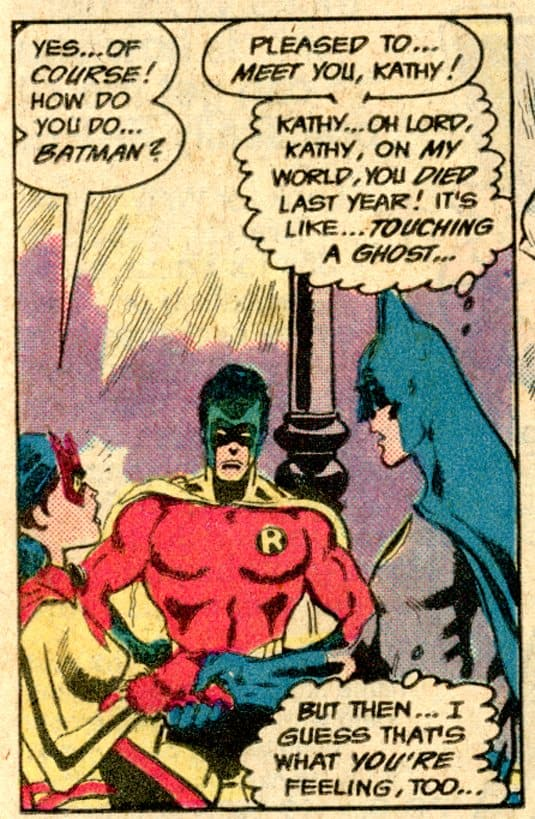 The Earth 2 Batwoman meets The Batman of Earth 1 from Brave and the Bold #182 (1982)162