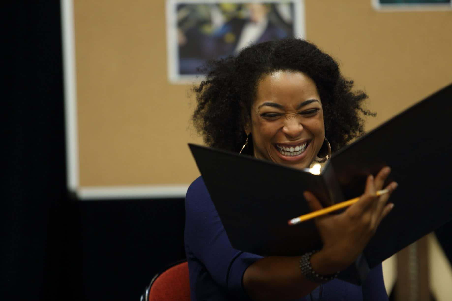 Katrinah Carol Lewis in rehearsal for the reading of Lempicka | Photo by Jay Paul