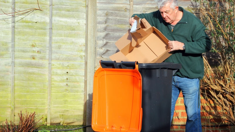 Retired couple in townhouse condominium complex with garbage taken over by neighbors Image