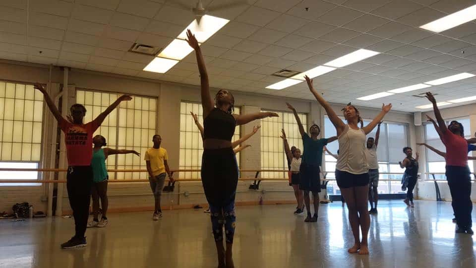 "The cast of ""The Wiz"" in rehearsal 
