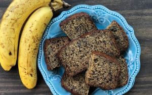 Insect protein in banana bread grasshoppers Image