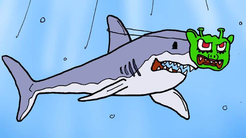 Monster-Shark Caption Contest Image