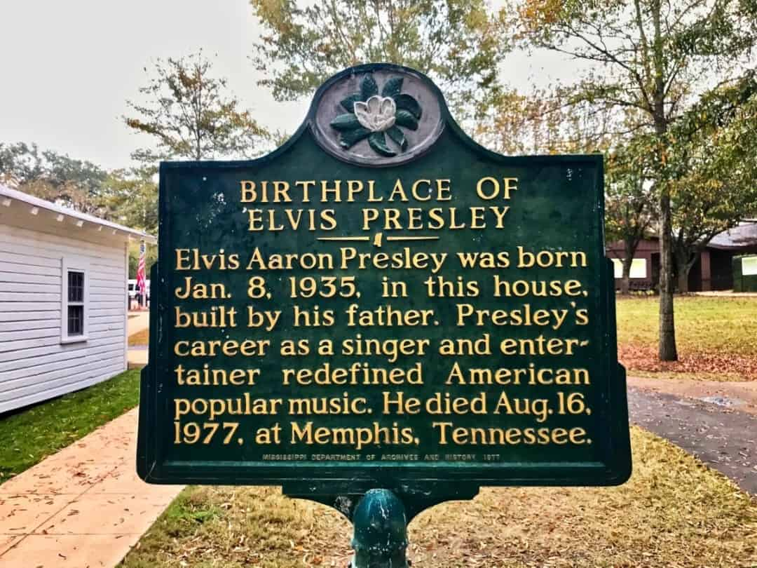 Historic Sign at Elvis Birthplace | Photo courtesy of Elvis Presley Birthplace