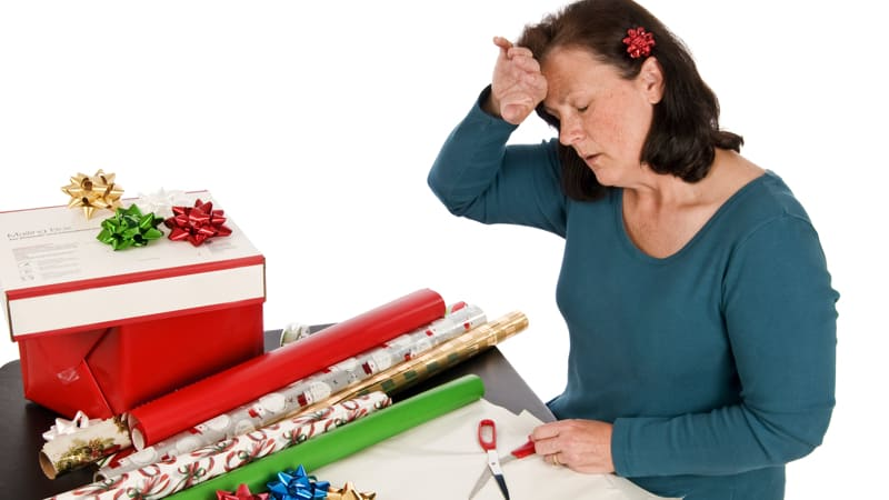 Woman stressed out because of holiday pressures Image