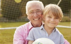 Older dad who is tired of being called grandfather by others Image