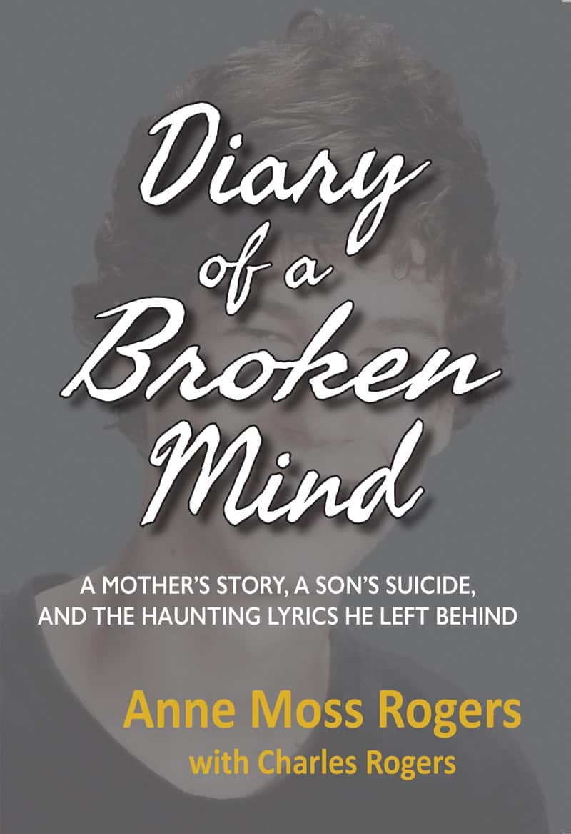 Diary of a Broken Mind book cover by Anne Moss Rogers with Charles Rogers