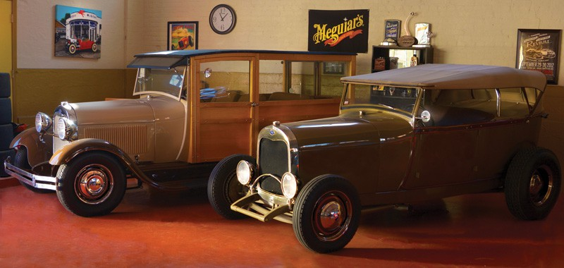 A pair of '29 Ford hot rods